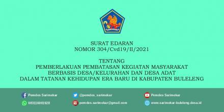 Surat Edaran Bupati Nomor 304 Tentang PPKM di Kabupaten Buleleng